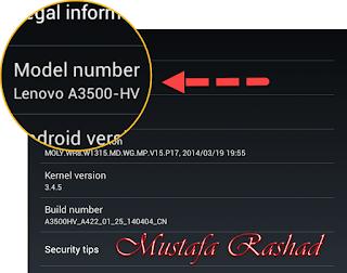 شرح طريقة تفليش وتحديث Lenovo Tab A3500-HV