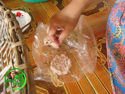 Kue Ranginang sudah dibentuk