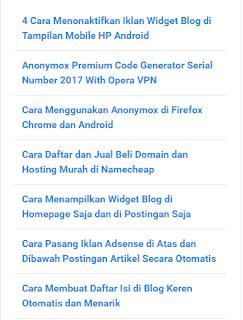 Artikel Terkait di Wordpress
