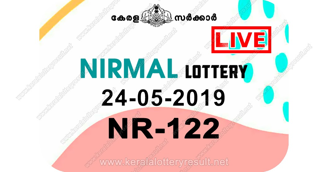Kerala Lottery Result 24/05/2019; Nirmal Lottery Results