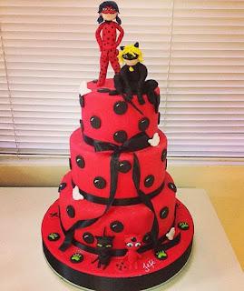Bolo festa Ladybug