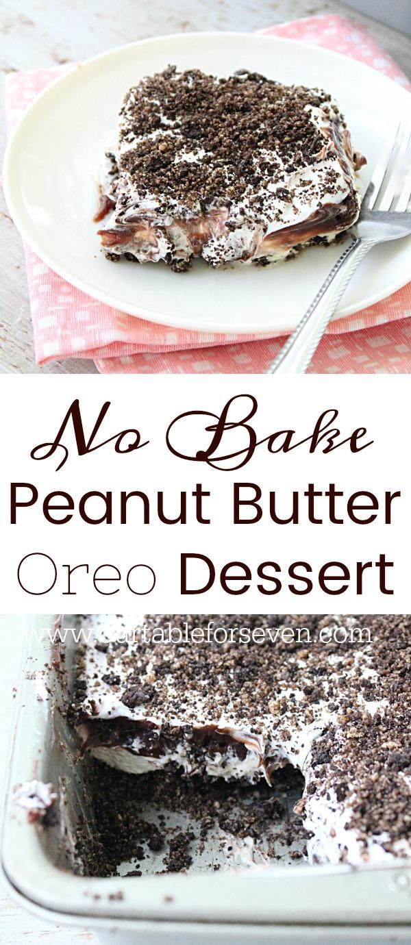 No Bake Peanut Butter Oreo Dessert