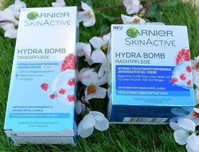 Garnier skin activ hydra bomb Tages und Nachtpflege