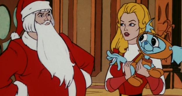 Santas Hand Sticking Out