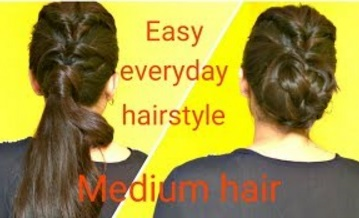 2 Easy Twisted Hairstyles For Medium Hair | DIY Quick Hairstyles For School, College & Work