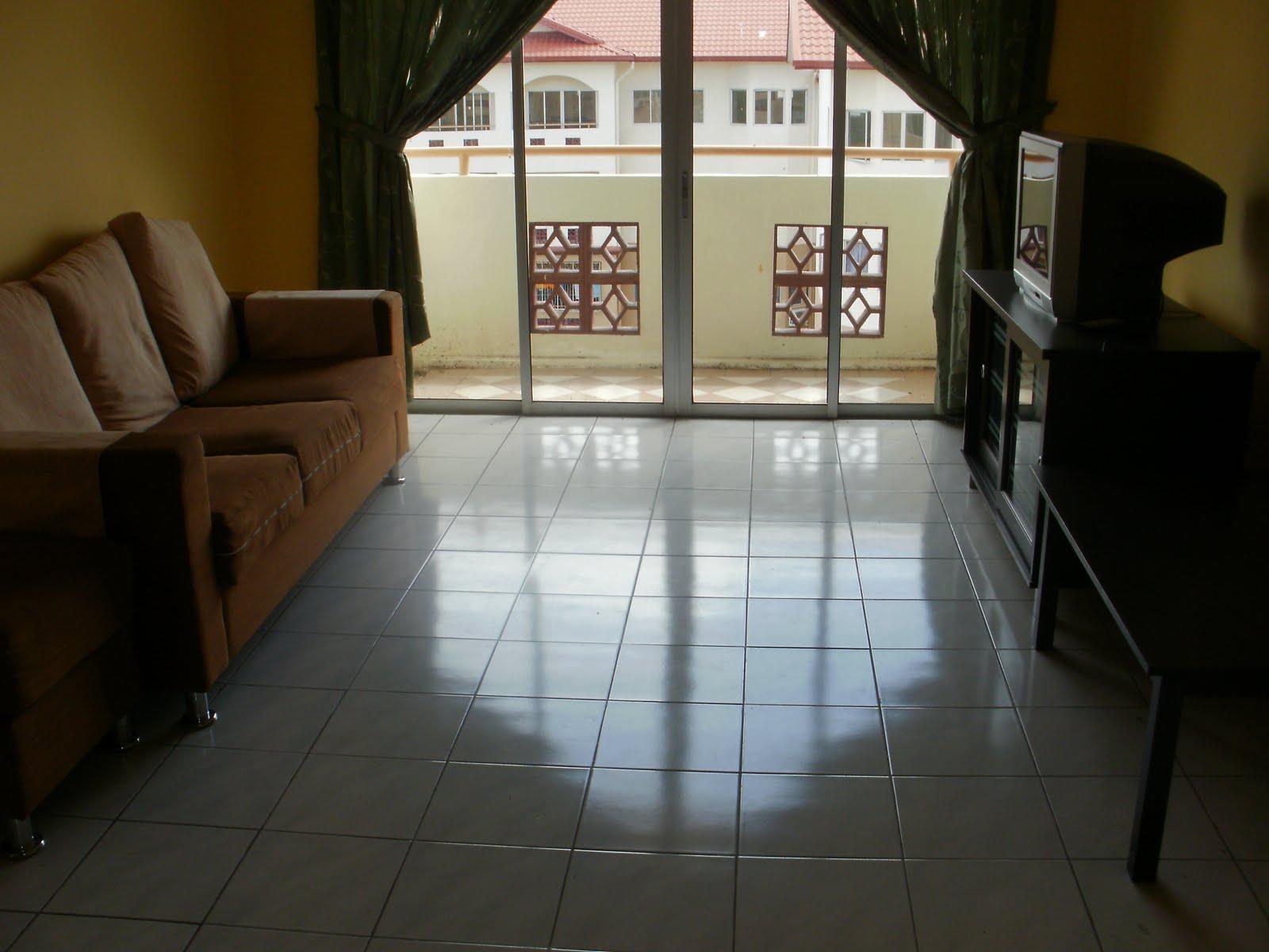 Contoh Dekorasi Ruang Tamu Rumah Teres Denah