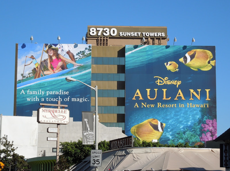 Giant Disney Aulani fish billboard