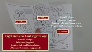 Engel Mit Cello Laubsägevorlage Engel Mit Bassgeige Dekupiersäge