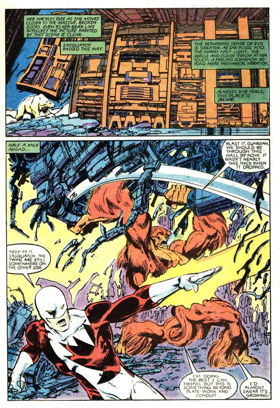 Alpha Flight v1 #3 marvel comic book page art by John Byrne