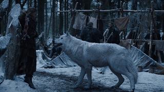 El lobo huargo fantasma de Juego de Tronos