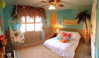 habitación temática playa