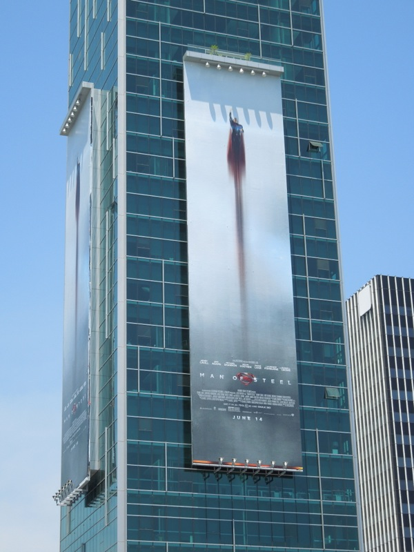 Man of Steel film billboard