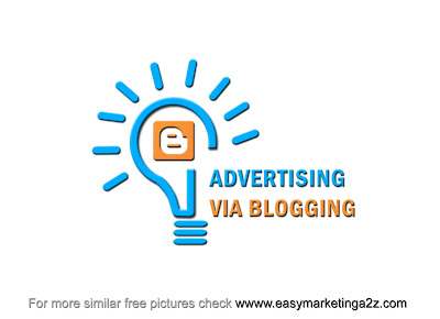 Advertising via blogging