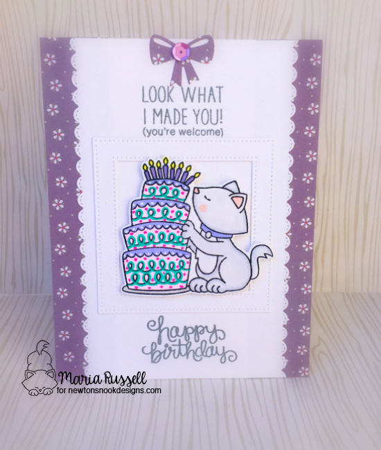 Look What I Made by Maria featuring Newton Loves Cake by Newton's Nook Designs, #newtonsnook