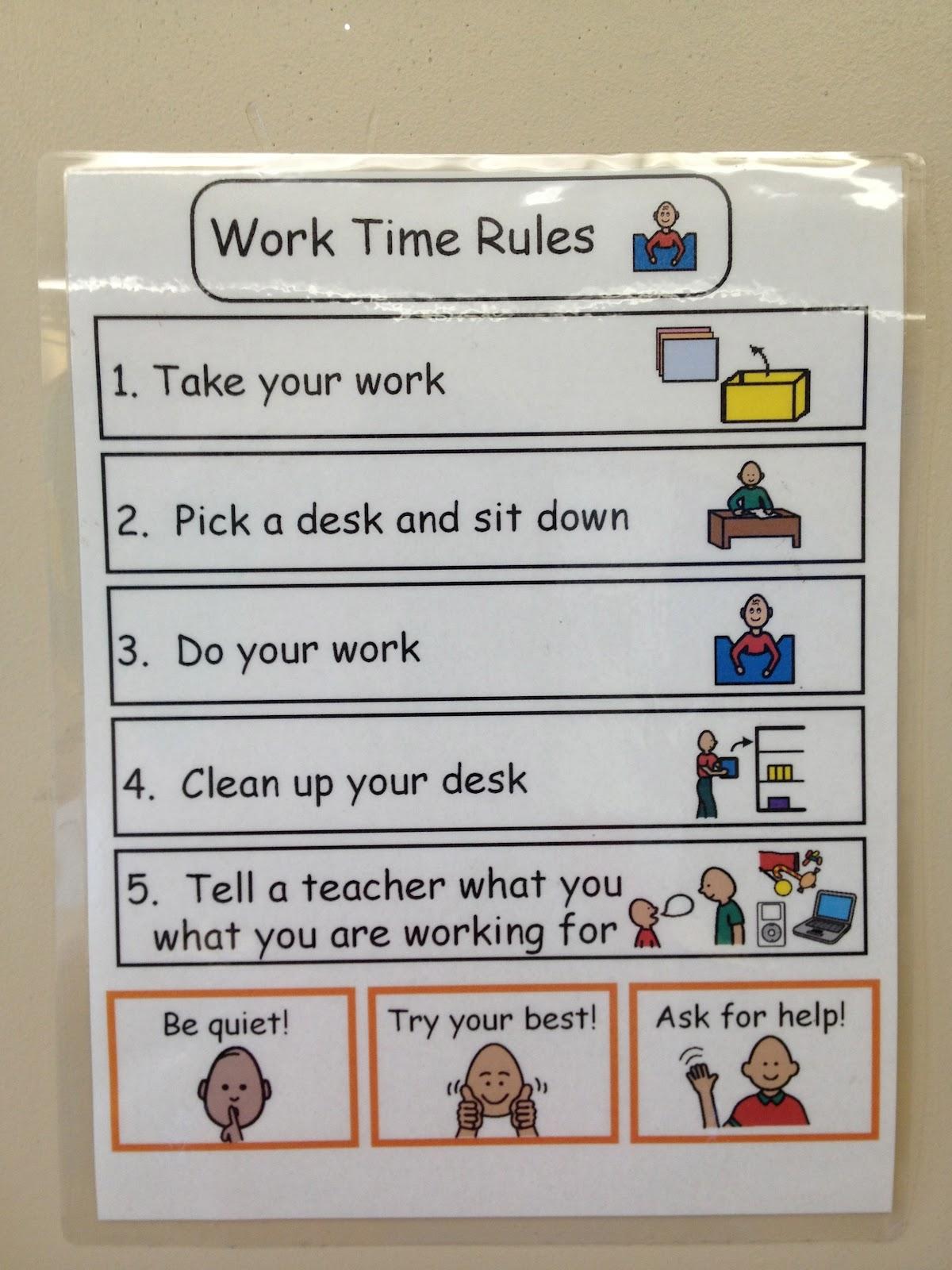 Autism Tank Classroom Tour Work Station