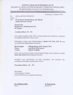 Surat Untuk Khotib Idul Fitri Fauzulandim Com