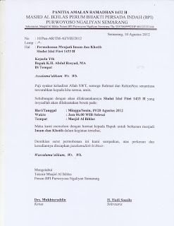 Surat Untuk Khotib Idul Fitri Fauzulandimcom