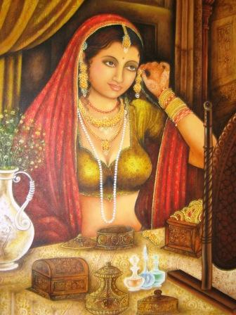 Vintage Paintings of Beautiful Woman's 4