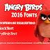 خط أنجري بيردز 2016 | Angry Birds Font