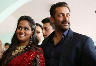 Salman Khan in Mandi, Salman Khan with sister Arpita, Arpita marriage reception, Salman Khan in Mandi reception