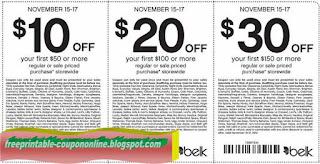 Free Printable Belk Coupons