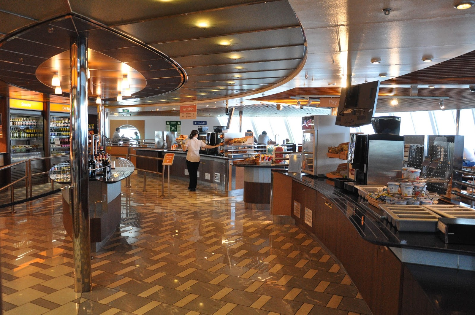 The restaurant on the DFDS Saeways Ferry, The English Channel, on the way back from France