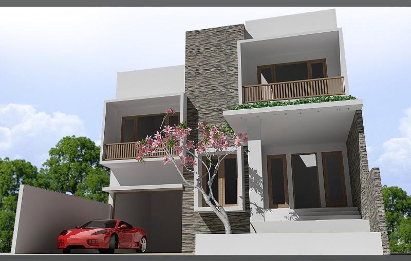 Pemasangan Batu Alam Di Area Pilar Rumah