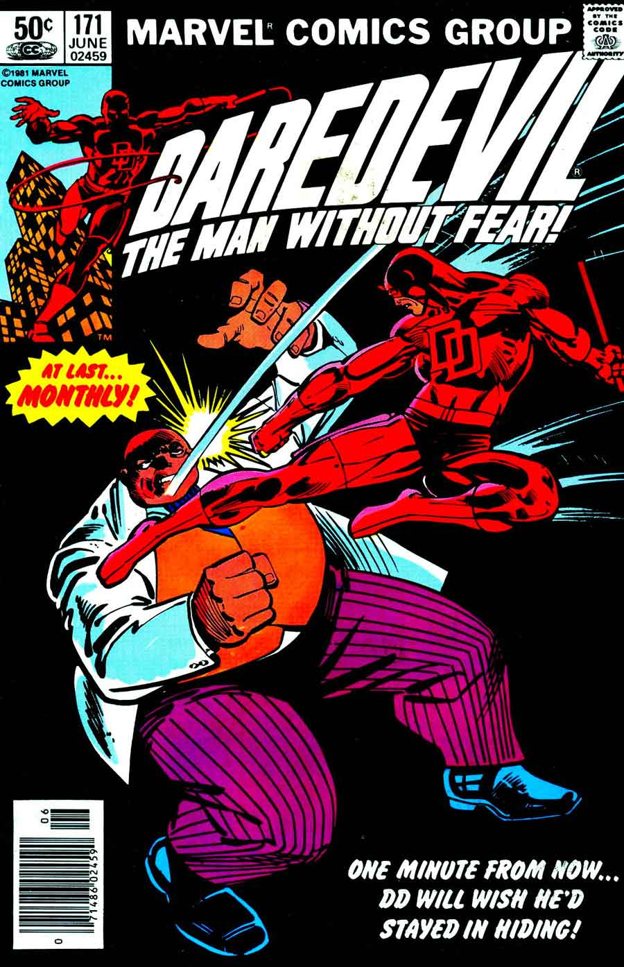 Daredevil v1 #171 kingpin marvel comic book cover art by Frank Miller