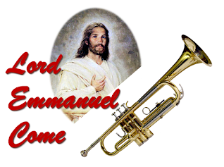 Song title with Jesus and a trumpet.