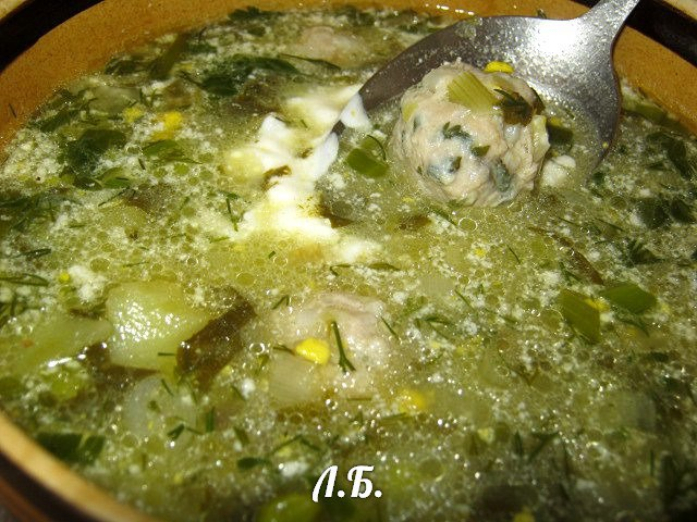 как сварить щавелевый суп с яйцом