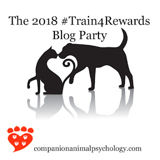 Post for the 2018 Train for Rewards Blog Party hosted by Companion Animal Psychology