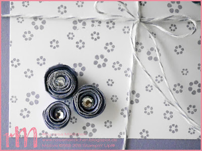 Stampin' Up! rosa Mädchen Kulmbach: Diamond Triangular Dankeskarte mit Confetti und Papillion Potpourri