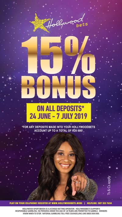 Hollywoodbets 15% Bonus on all Deposits* - Vodacom Durban July 2019