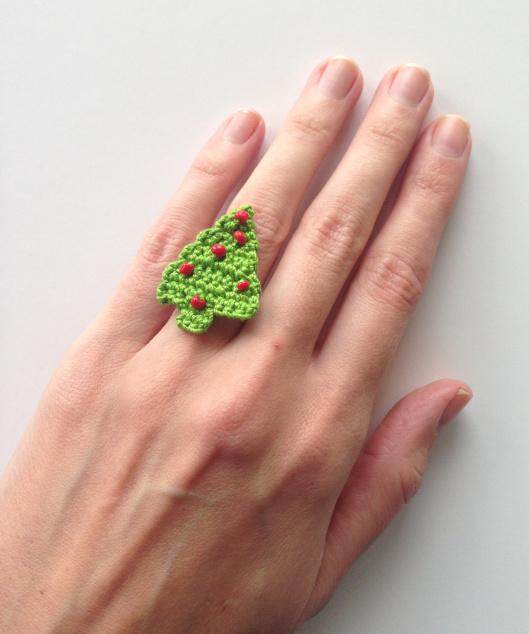 Beaded Flower Ring Pattern Free
