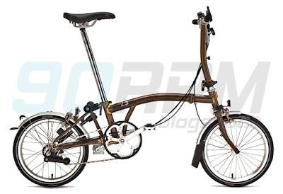 Foto di una bicicletta pieghevole Brompton