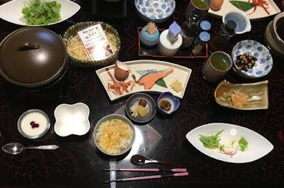 富士乃湯旅館の朝食