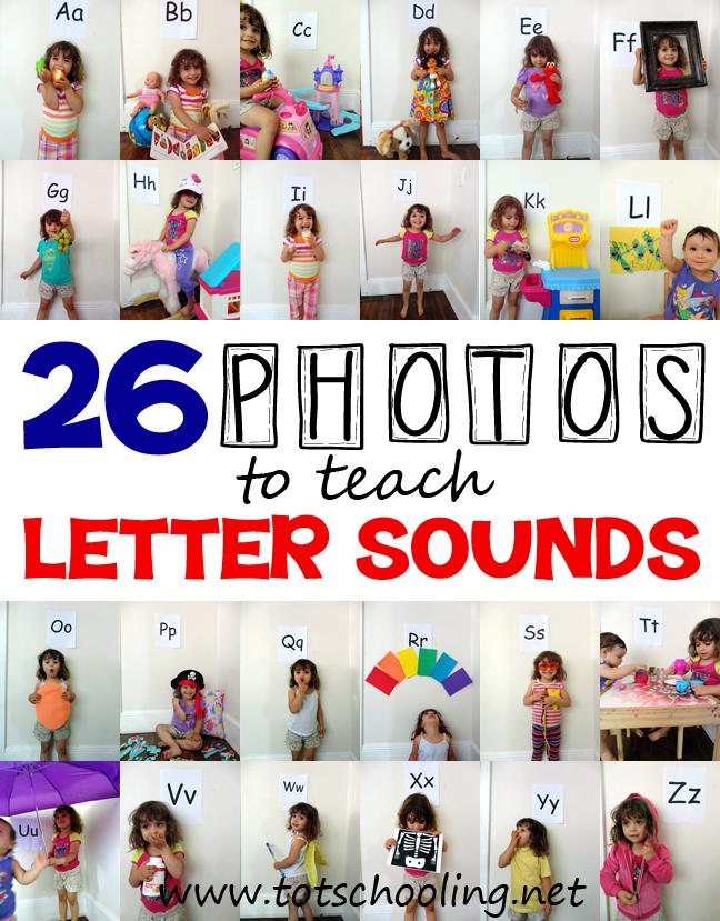 Teach Letter Sounds with 26 Photos