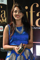 Madhu Shalini Looks Super Cute Slim trim Blue Choli Ghagra IIFA Utsavam Awards 39.JPG
