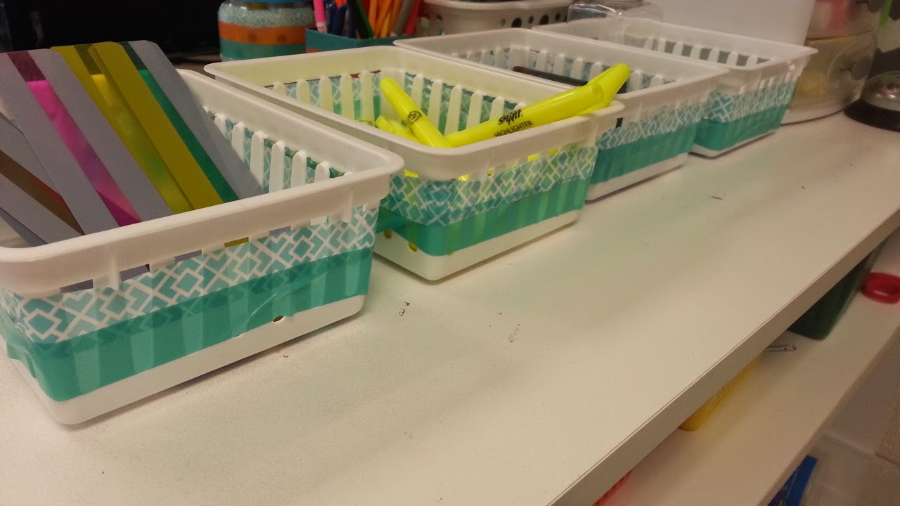 Washi Tape to fix up teaching baskets