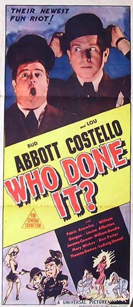 Abbott Costello Try To Find Out Who Done It