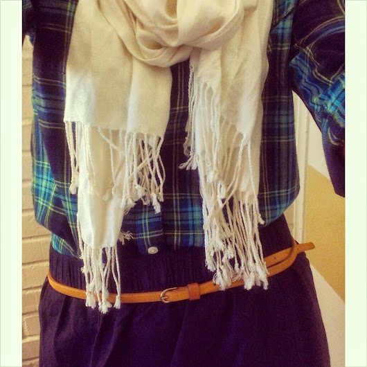 $6.00 Skirt, Plaid, and Lots of Coziness