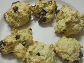 Chocolate chip biscuits, Chocolate Chip Drop Biscuits, easy breakfast, freezer cooking