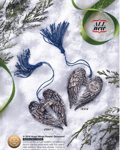 Pewter Ornaments - Avon Christmas Ornaments - Avon Collectibles