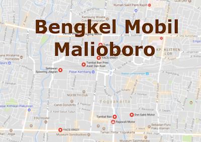 Alamat Bengkel Variasi Mobil sekitar Malioboro