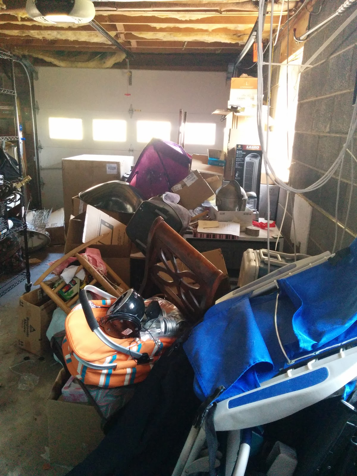 garage in need of organization