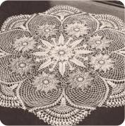 Centro de Mesa de tres colores a Crochet
