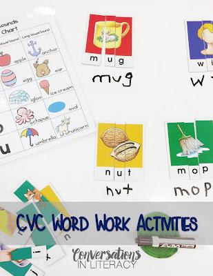 using cvc puzzle activities