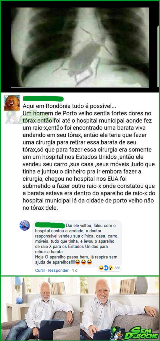 O CASO DO HOMEM QUE FOI ENGANADO SOBRE TER COMIDO UMA BARATA