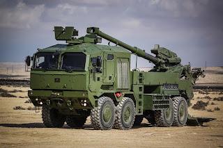 Howitzer Swa-Gerak Elbit Soltam ATMOS 155mm