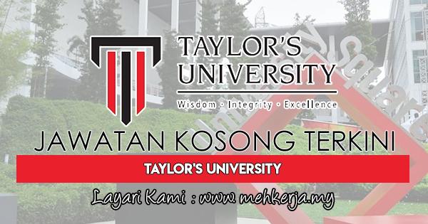 Jawatan Kosong Terkini di Taylor's University